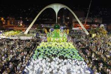 Dancers from the Mocidade samba school