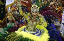 A dancer from the Imperatriz samba school