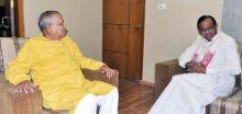 Home minister P Chidambaram and Assam Governor J.B Patnaik