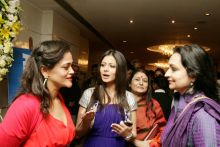 Kalli Purie with Actor Koel Mullick and Madhu Neotia