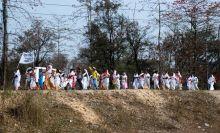 Anti-dam protest in Lakhimpur