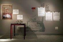 Items on display at at Beit Hatfutsot museum