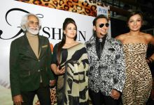 Gulshan Grover and Mahima Choudhry on Day 1 of WIFW