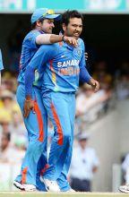Suresh Raina (left) and Rohit Sharma