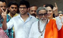Bal Thackeray with grandson Aditya
