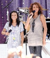 Whitney Houston with daughter Bobbi Kristina Brown