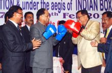 Assam Chief Minister Tarun Gogoi and MLA Captain Robin Bordoloi