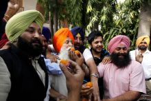 Akali Dal supporters