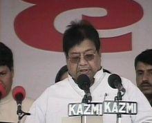 Samajwadi Party leader taking oath as Cabinet minister