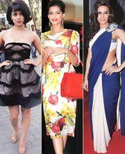 B-town fashionistas Kangna Ranaut, Sonam Kapoor & Neha Dhupia