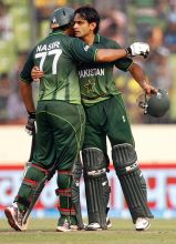 Nasir Jamshed (left) and Mohammad Hafeez