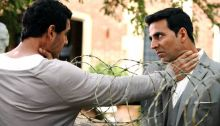 Akshay Kumar and John Abraham in a still from Housefull 2