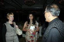 Aroon Purie, Kirsti Parvi and Geetanjali Kirloskar