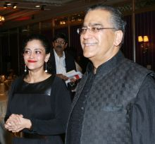 Kalli Purie with Aroon Purie