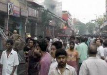 Fire at Hatibagan area of Kolkata