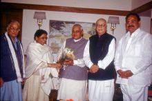 Murli Manohar Joshi, Mayawati, Atal Bihari Vajpayee and L K Advani