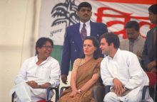 Rahul Gandhi at an election rally