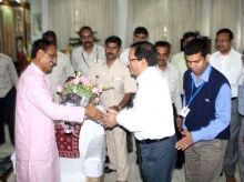 Shivraj Singh Chouhan with his supporters