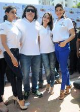 Sajid Khan with Asin, Shazahn Padamsee and Jacqueline Fernandez