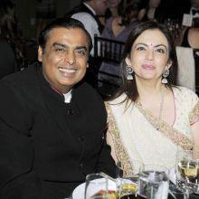 Mukesh and Nita Ambani