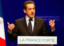 French President and UMP candidate Nicolas Sarkozy