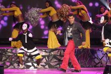 Salman Khan performs during IPL opening night