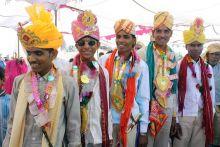 Bridegrooms in Sironj town