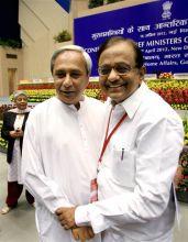 Naveen Patnaik with P Chidambaram