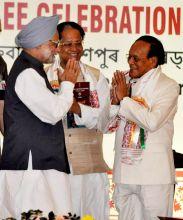 Manmohan Singh, Devanand Konwar and Tarun Gogoi