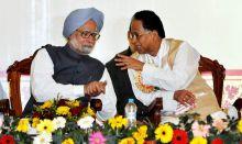 Manmohan Singh and Tarun Gogoi