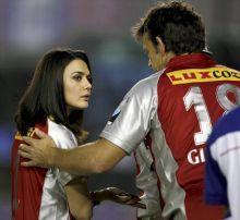 Priety Zinta and Adam Gilchrist