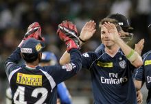 Dale Steyn and team-mates