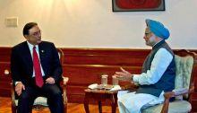 Asif Ali Zardari with PM Mahmohan Singh