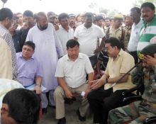 Locals with Transport Minister Chandan Brahma