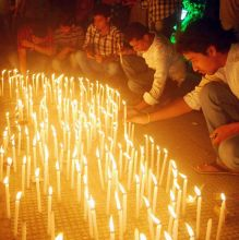 Candle light vigil for the victims