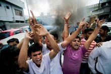 BJP activists shout slogans in Jammu