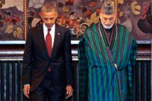 US President Barack Obama and Afghan President Hamid Karzai