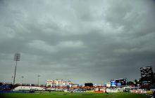 Dark clouds overshadow the Sawai Mansingh Stadium