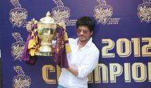Shah Rukh Khan showcases KKR's IPL trophy