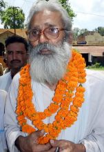 Brahmeshwar Singh after being acquitted and released from jail