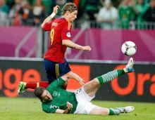 Ireland's Stephen Ward, Spain's Fernando Torres
