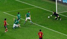 Spain's David Silva, Ireland's Shay Given
