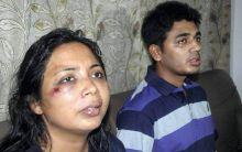Congress MLA Rumi Nath (left) and her second husband Jaki Jakir