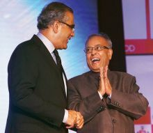 Aroon Purie and Pranab