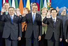 Indonesian President Susilo Bambang Yudhoyono, U.S. President Barack Obama, German Chancellor Angela Merkel, Chinese President Hu Jintao, Indian Prime Minister Dr. Manmohan Singh