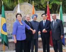 Dr. Manmohan Singh, Hu Jinato, Dilma Rousseff, Vladimir Putin, Jacob Zuma