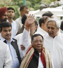 Nitin Gadkari, Arun Jaitley, Naveen Patnaik and P.A. Sangma