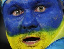 A Ukraine fan