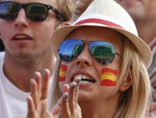 A Spanish supporter