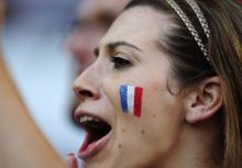 A French supporter